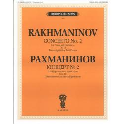 """J0107 Рахманинов С.В. Концерт №2: Для фортепиано с оркестром. Соч.18, издательство """"П. Юргенсон"""""""