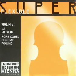 Thomastik Super Flexible Голубой Томастик четвёртая струна для скрипки размером 4/4, среднее натяжение