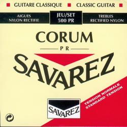 Corum Комплект струн для классической гитары, норм.натяжение, посеребренные, Savarez, 500PR
