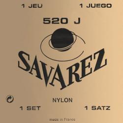 Carte Jaune Комплект струн для классической гитары, посеребренные, сильное натяжение, Savarez, 520J