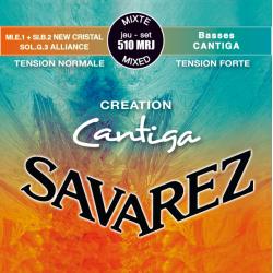 Creation Cantiga Комплект струн для классической гитары, смешанное натяж, посеребр, Savarez, 510MRJ
