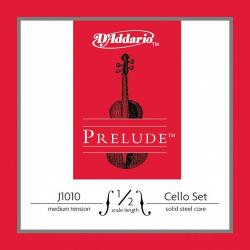 J1010-1/2M Prelude Комплект струн для виолончели размером 1/2, среднее натяжение, D'Addario