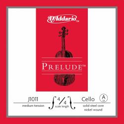 J1011-4/4M Prelude Струна А для виолончели размером 4/4, среднее натяжение, D'Addario