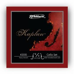 KS510-4/4H Kaplan Комплект струн для виолончели размером 4/4, сильное натяжение, D'Addario