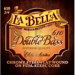 Комплект струн для контрабаса размером 3/4, сталь, La Bella, 610