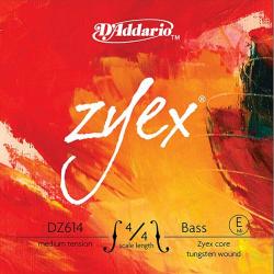 DZ614-4/4M Zyex Отдельная струна Е/Ми для контрабаса, размер 4/4, среднее натяжение, D'Addario