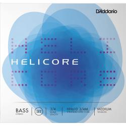 HH610-3/4M Helicore Комплект струн для контрабаса размером 3/4, D'Addario