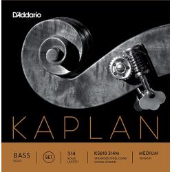 KS610-3/4M Kaplan Solo Комплект струн для контрабаса размером 3/4, среднее натяжение, D'Addario