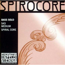 S43 Spirocore Комплект струн для контрабаса размером 4/4, соло, Thomastik