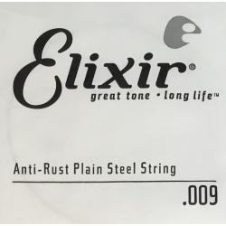 Anti-Rust Отдельная струна для гитары, сталь, .009, Elixir, 13009
