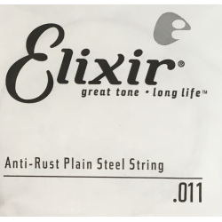 Anti-Rust Отдельная струна для гитары, сталь, .011, Elixir, 13011