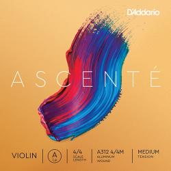 A312-4/4M Ascente Отдельная струна A для скрипки 4/4, среднее натяжение, D'Addario