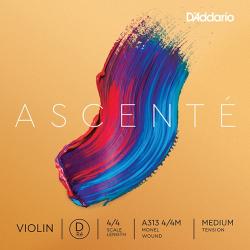 A313-4/4M Ascente Отдельная струна D для скрипки 4/4, среднее натяжение, D'Addario