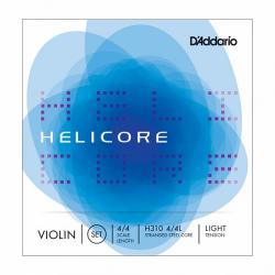 H310W-4/4L Helicore Комплект струн для скрипки размером 4/4, слабое натяжение, D'Addario