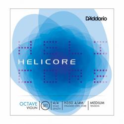 H350-4/4M Helicore Octave Комплект струн для скрипки размером 4/4, среднее натяжение, D'Addario