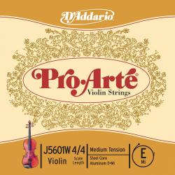 J5601W-4/4M Pro-Arte Отдельная струна Е/Ми для скрипки размером 4/4, среднее натяжение, D'Addario