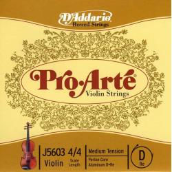 J5603-4/4M Pro-Arte Отдельная струна D (Ре) для скрипки размером 4/4, среднее натяжение, D'Addario