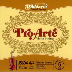 J5604-4/4M Pro-Arte Отельная струна G/Соль для скрипки размером 4/4, среднее натяжение, D'Addario