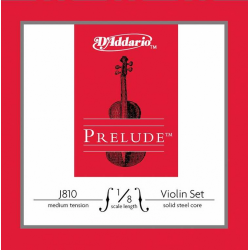 J810-1/8M Prelude Комплект струн для скрипки размером 1/8, среднее натяжение, D'Addario
