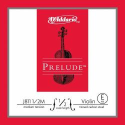 J811-1/2M Prelude Отдельная струна Е/Ми для скрипок размером 1/2, среднее натяжение, D'Addario