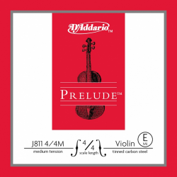 J811-4/4M PRELUDE Струна E/МИ для скрипки D`Addario