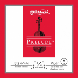 J812-4/4M PRELUDE Струна A/ЛЯ для скрипки D`Addario
