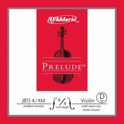 J813-4/4M Prelude Отдельная струна D (Ре) для скрипки размером 4/4, среднее натяжение, D'Addario