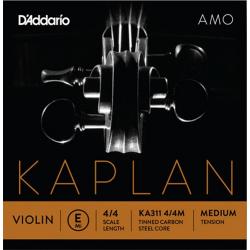 KA311-4/4M Kaplan Amo Отдельная струна E/Ми для скрипки размером 4/4, среднее натяжение, D'Addario
