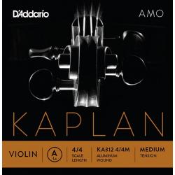 KA312-4/4M Kaplan Amo Отдельная струна A/Ля для скрипки размером 4/4, среднее натяжение, D'Addario