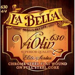 Комплект струн для скрипки размером 3/4, сталь, La Bella, 630-3/4