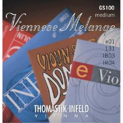 GS100 Viennese Melange Комплект струн для скрипки размером 4/4, Thomastik