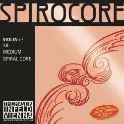 S8 Spirocore Отдельная струна Е/Ми для скрипки, размером 4/4, среднее натяжение, Thomastik