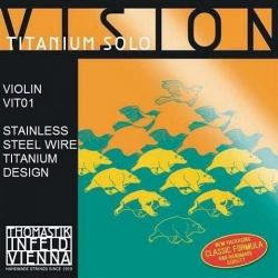 VIT01 Vision Titanium Отдельная струна E/Ми для скрипки размером 4/4, среднее натяжение, Thomastik