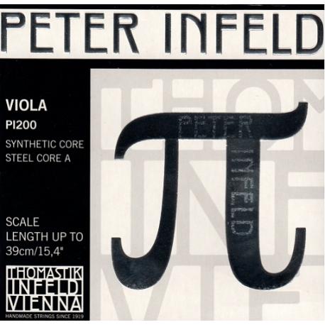 PI200 Peter Infeld Комплект струн для альта размером 4/4, среднее натяжение, Thomastik