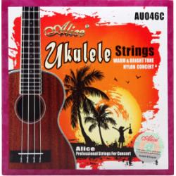 AU046-C Комплект струн для концертного укулеле, Alice