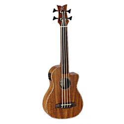 CAIMAN-FL-GB Lizard Series Укулеле бас со звукоснимателем, без ладов, с вырезом, с чехлом, Ortega