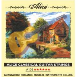 A106-H Комплект струн для классической гитары, нейлон, посеребренная медь Alice