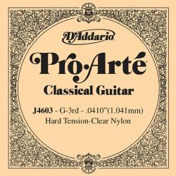J4603 Pro-Arte Отдельная 3-я струна для классической гитары, нейлон, сильное натяжение, D'Addario
