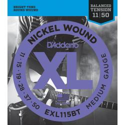 EXL115BT Nickel Wound Комплект струн для электрогитары, Medium, 11-50, D'Addario