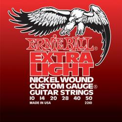 P02210 Nickel Wound Extra Light Комплект струн для электрогитары, никель, 10-50, Ernie Ball