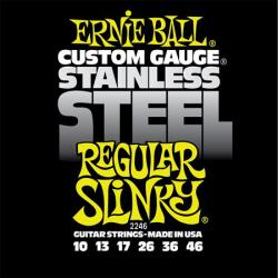 P02246 Regular Slinky Steel Комплект струн для электрогитары, сталь, 10-46, Ernie Ball