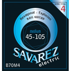 HEXAGONAL EXPLOSION Струны для бас гитар SAVAREZ B70M4