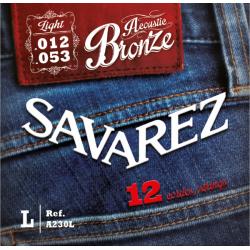 Acoustic Bronze Струны для 12-струнных акустических гитар SAVAREZ A230L
