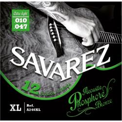 Acoustic F. Bronze Струны для 12-струнных акустических гитар SAVAREZ A240XL