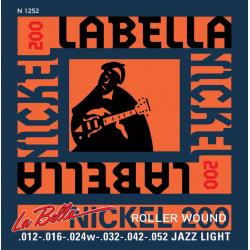 N1252 Nickel 200 Roller Wound Комплект струн для электрогитары 012-052 La Bella