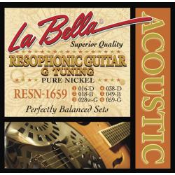 RESN-1659 Pure Nickel G Комплект струн для резонаторной гитары, никель, 16-59, La Bella
