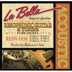RESN-1856 Pure Nickel G Комплект струн для резонаторной гитары, никель, 18-56, La Bella