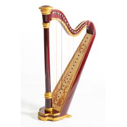 MLH0013 Capris Арфа 21 струнная (A4-G1), цвет махагони глянцевый, Resonance Harps