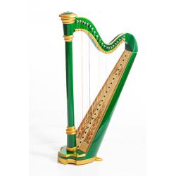 MLH0015 Capris Арфа 21 струнная (A4-G1), цвет зеленый глянцевый, Resonance Harps