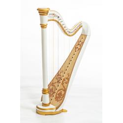 MLH0021 Iris Арфа 21 струнная (A4-G1), цвет белый глянцевый, Resonance Harps